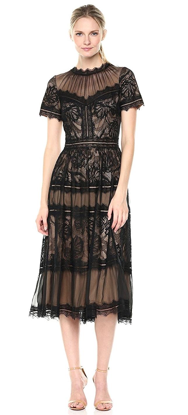 Tadashi Shoji Women\'s Short Sleeve Lace Dress | Raluca Fashion