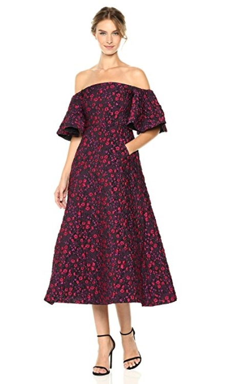 Jill Jill Stuart Women's Off the Shoulder Flounce Dress