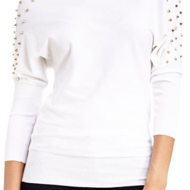 2B Studded Shoulder Sweater