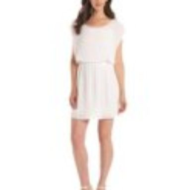Ella moss Women's Stella Mini Dress, White, Large