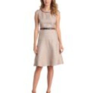Anne Klein Women's Rattan Inset Swing Dress