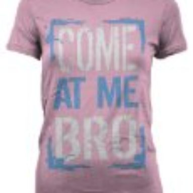Cybertela Come At Me Bro Junior Girl's T-shirt (Pink, Small)