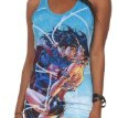 DC Comics Superman & Wonder Woman Girls Tank Top