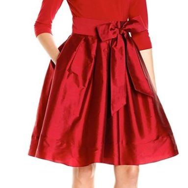 Adrianna Papell Women's Taffeta Two-Fer Fit and Flare