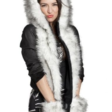 Animal Hoodie Hat 3-in-1 Function Faux FUR