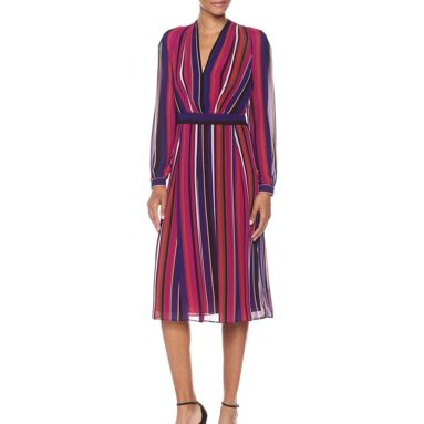 Fit and Flare Dress-Printed Georgette