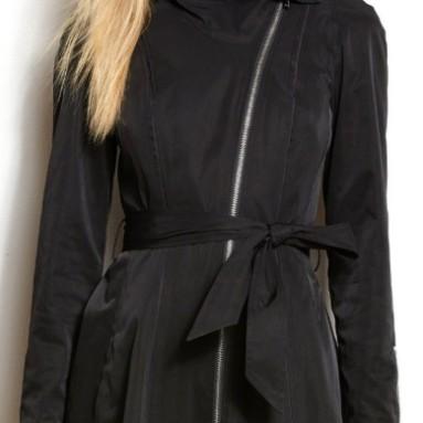 Armani Exchange Womens Drama Collar Trench Coat