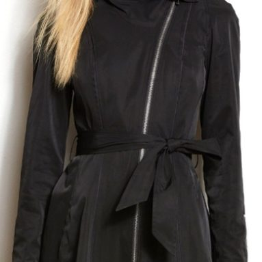 Armani Exchange Womens Drama Collar Trench Coat