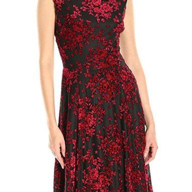 Women's Burnout Velvet Dress