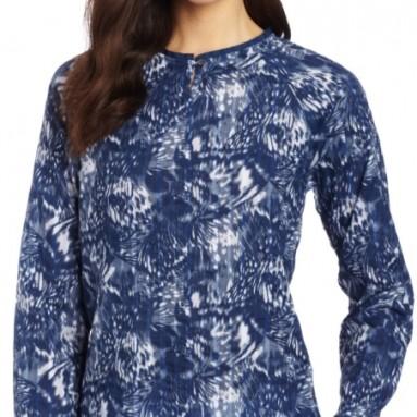 Calvin Klein Jeans Women's 3/4 Sleeve Keyhole Top