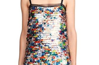 MILLY Women's Printed Sequin Mini Dress