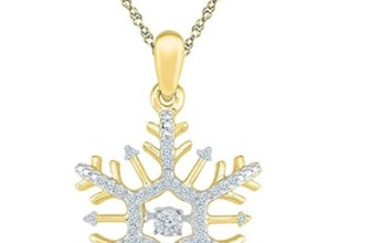 Diamond Snowflake Winter Cluster Pendant