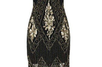 Women's Flapper Dresses 1920s Sequins Art Deco Gatsby Cocktail Dress