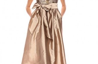 Women's Cap Sleeve Bead and Embroidered Gown