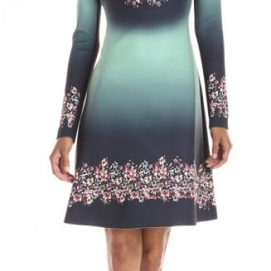 Women's Autumn Ombre Neoprene Dress