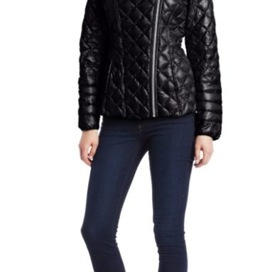 Contrast Puffer with Quilt