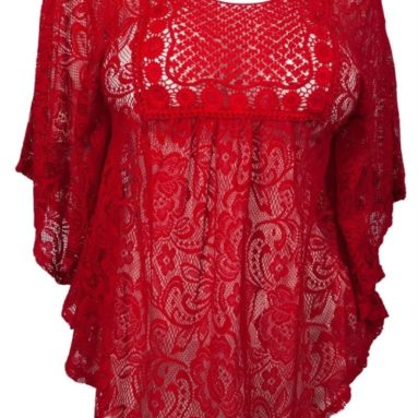 Crochet Lace Poncho Top
