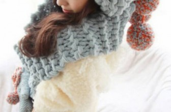 Crochet Woollen Gloves Scarf Hats Cap