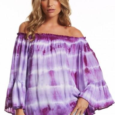 Elan Women's Flutter Sleeve Top