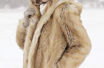 Fabulous-Furs Hooded Faux Fur Jacket