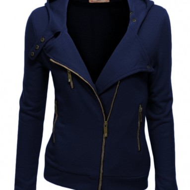 Fleece Zip-Up High Neck Jacket
