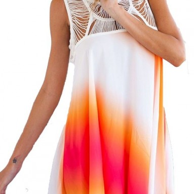 Floral Lace Hippie Party Beach Dress Swimsuit Cover Up
