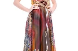 Floral Printed Chiffon Casual Dress
