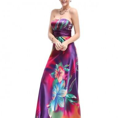 Satin Colorful Dress