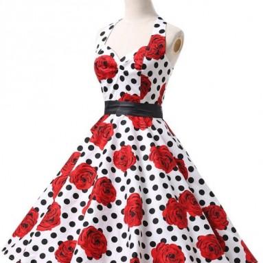 Grace Karin Womens Halter Ball Retro Vintage Dresses