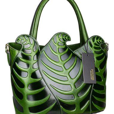 Handbags Embossed Leather Satchel Tote Shoulder Bags