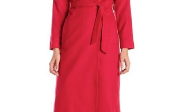 Helene Berman Women's Shawl-Collar Long Wrap Coat