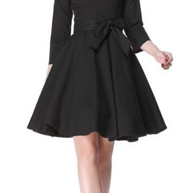 Hepburn 3/4 Sleeve Style Vintage Retro Swing Rockabilly Dresses