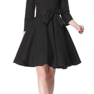 Hepburn 3/4 Sleeve Style Vintage Retro Swing Rockabilly Dresses
