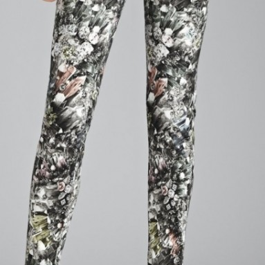 Jeans with Crystal Vision Print