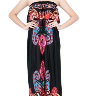 Kashmir Print Maxi Dress