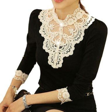 Lace Bottoming Shirt Female Long Sleeve Shirt Blouse