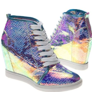 Lace Up Hidden Wedge Sneaker Shoes