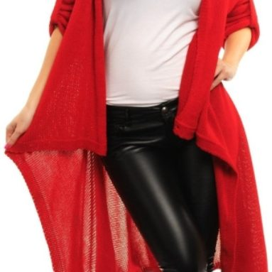 Ladies Warm Knitted Coat Long Wrap Cardigan