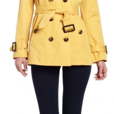 London Fog Women's Heritage Short Trench Coat