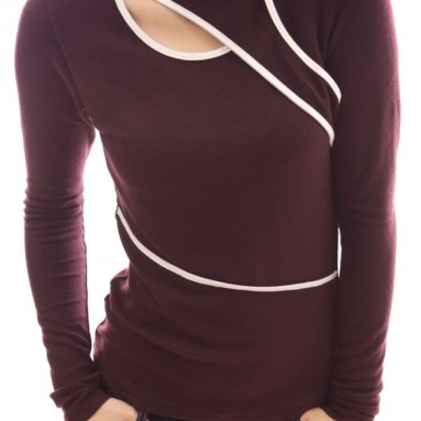 Neck Long Sleeve Knit Top
