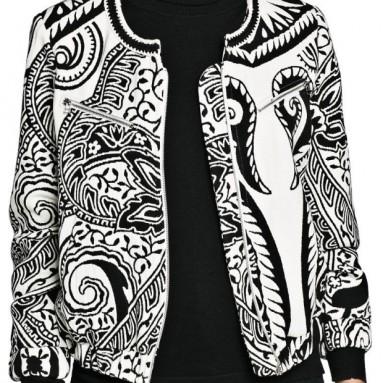 Mango Women's Paisley Jacquard Bomber Jacket