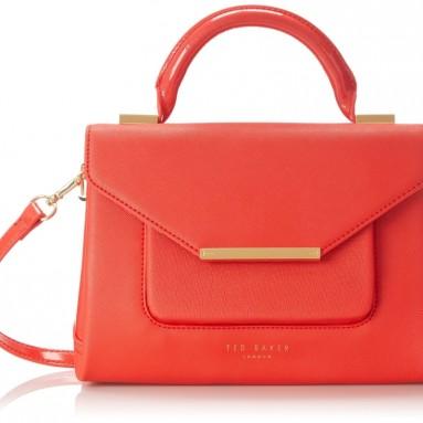 Mariza Patent Crosshatch Lady Cross Body Bag