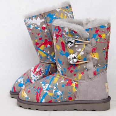 Multi-color Ankle Boots Short Boots