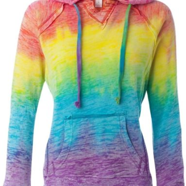Mv Sport Ladies Courtney Burnout Hoodie
