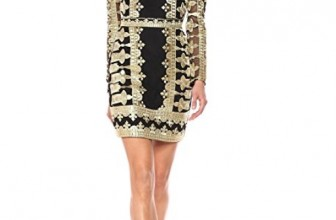 Nicole Miller Women's Crown Emb/Mesh Illusion Dress