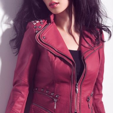 Punk Style PU Faux Leather Slim Fit Moto Jacket