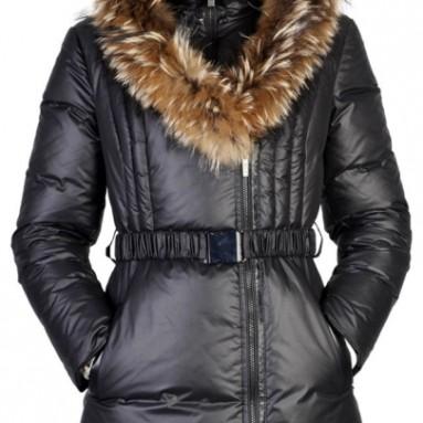 Raccoon Fur Trimmed Hooded Down Coat