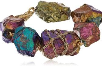 """Rainbow Rocks"" Rainbow Quartz Stone Toggle Bracelet"