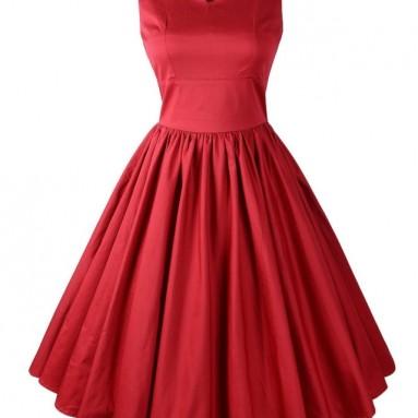Rockabilly Scallop Brenda Swing Dress