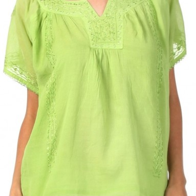 Semi-Sheer Short Sleeve Gauzy Top